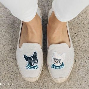 Soludos pug dog espadrilles shoes 8.5